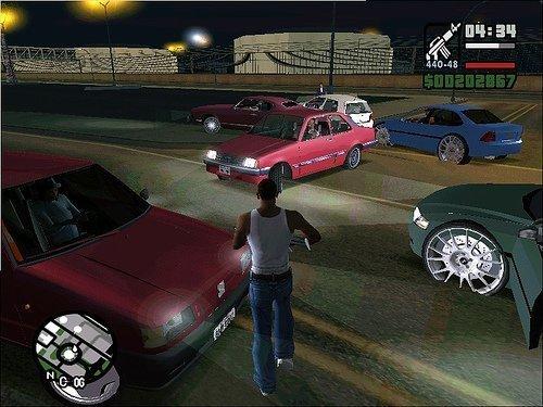 Vários carros nacionais no GTA San Andreas