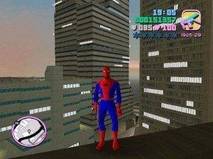 Homem aranha no GTA Vice City