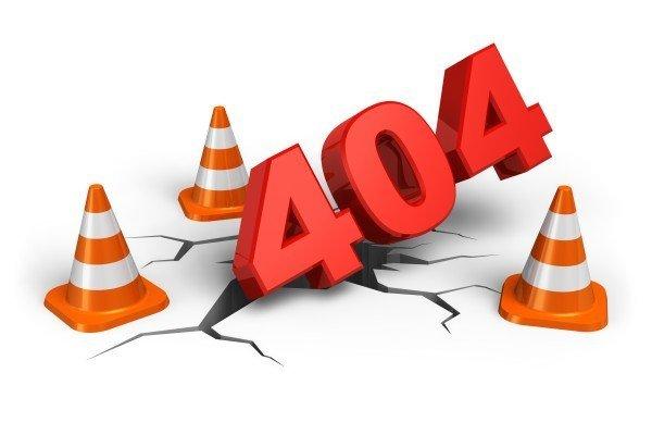 Telas diferentes do erro 404