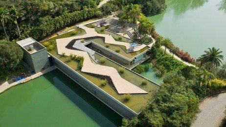 Foto aérea do museu Inhotim