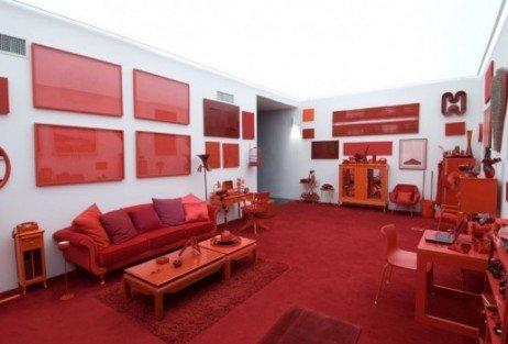 Sala em vermelho no Inhotim