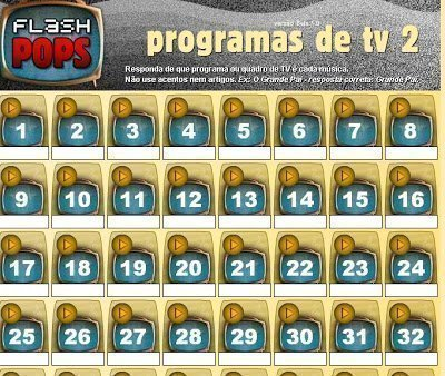 Flashpops de programas de TV