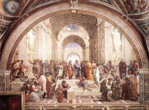 "Quadro ""A escola de Atenas"" de Rafael"